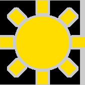 Sonne ohne Wolke
