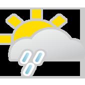 Sonne, Wolken, Regenschauer