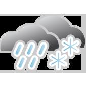 Schneeregen, überwiegend bewölkt